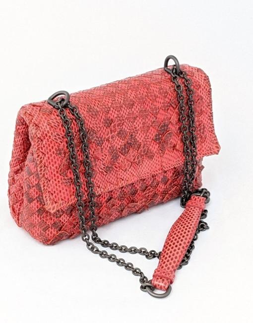 bag BOTTEGA piton red