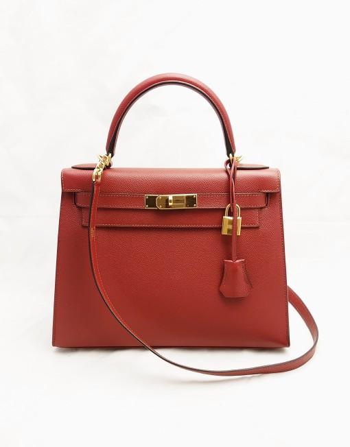 bag hermes kelly 28 red