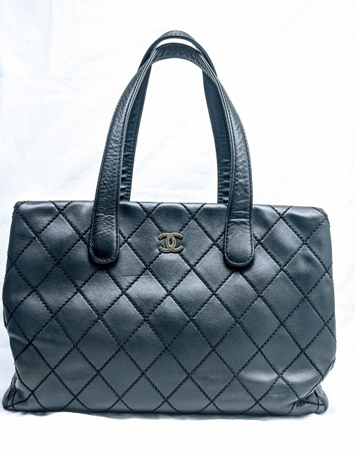 bag chanel wildstich black