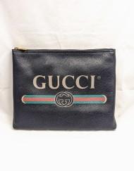 pouch GUCCI logo black