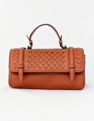 bag BOTTEGA Scales mini top camel