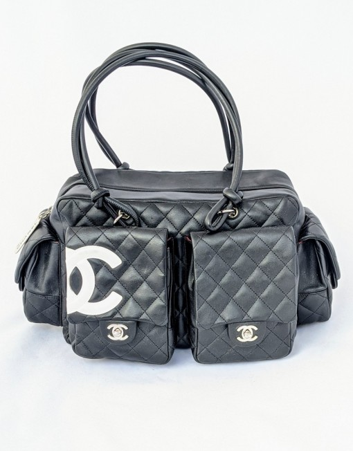 bag CHANEL cambon reporter black