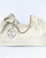 bag CHANEL cococabas white