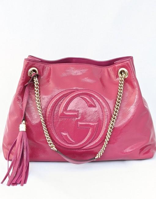 bag GUCCI soho pink chain