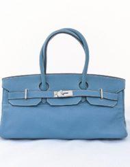 bag HERMES birkin shoulder blue