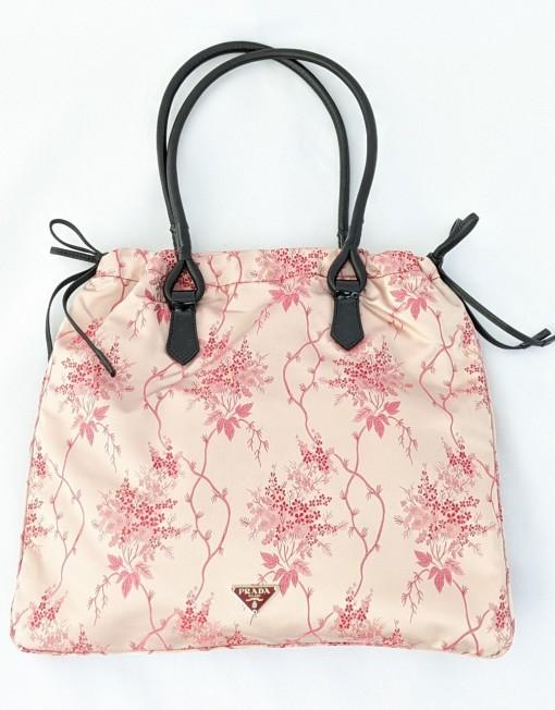 bag PRADA silk pink