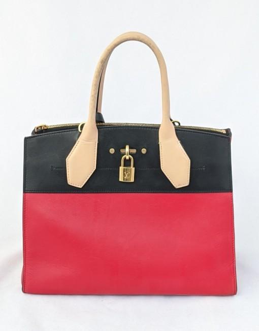 bag Vuitton city steamer red