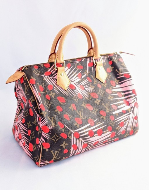 bag vuitton speedy palm springs jungle pink