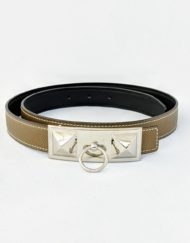 belt HERMES collier medium grey