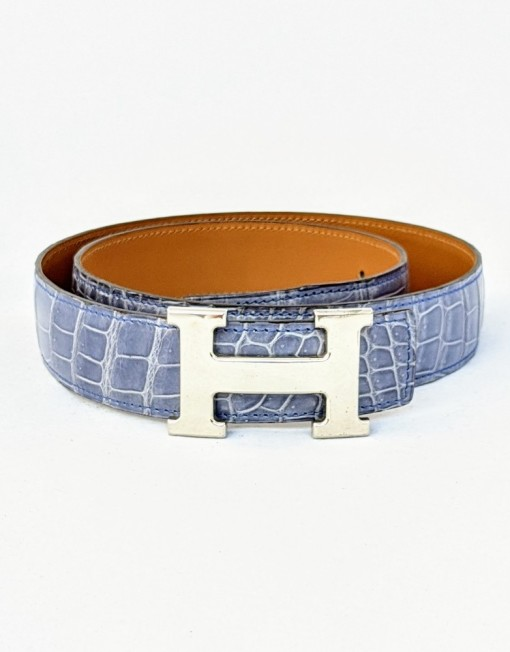 belt HERMES h crocodile