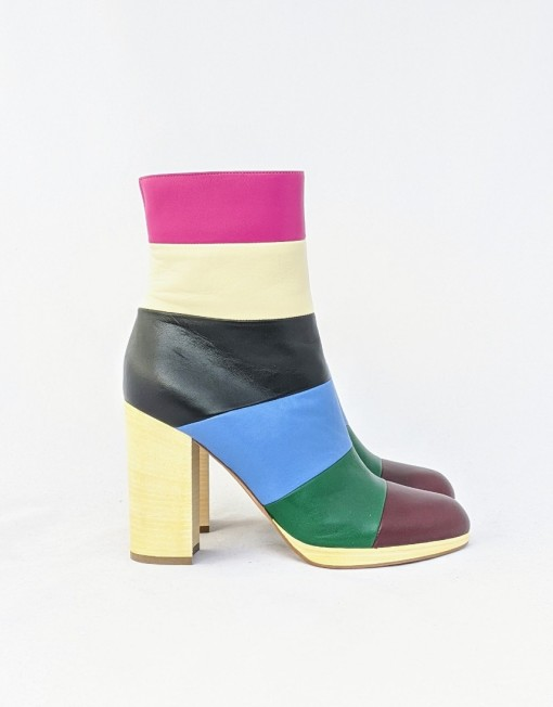 boots VALENTINO stripes colors