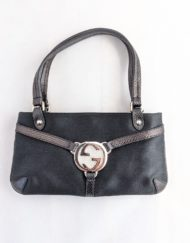 mini bag gucci silk black