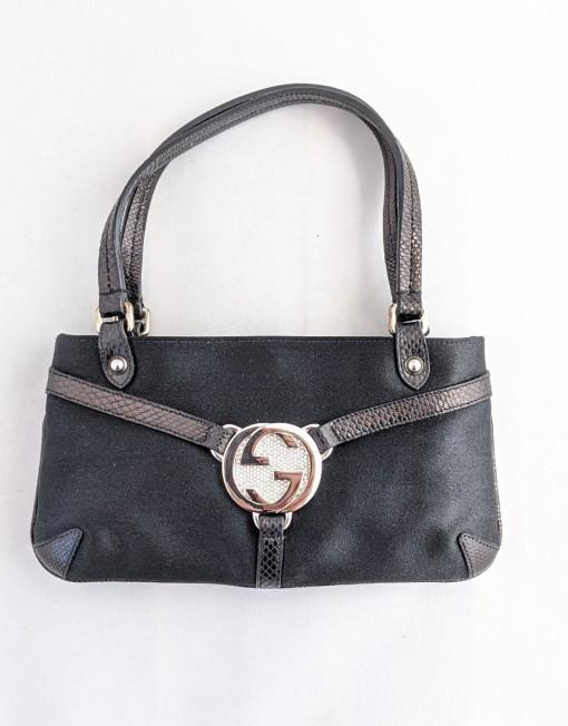 mini bag gucci silk black