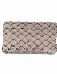 pouch PRADA metallic brown
