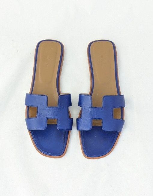 sandals HERMES oran blue