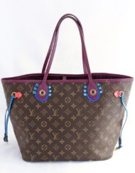 shoppingbag vuitton neverfull totem magenta
