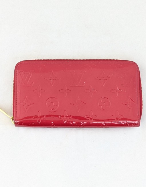 wallet VUITTON zippy vernis red