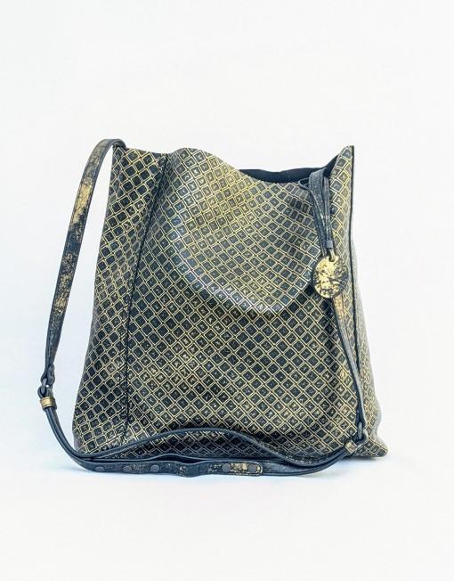 bag BOTTEGA VENETA gold print