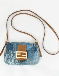 bag FENDI baguette denim