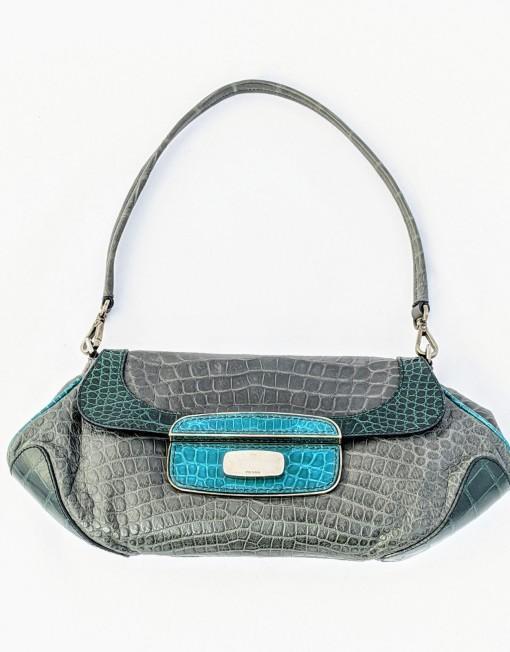 bag PRADA crocodile grey