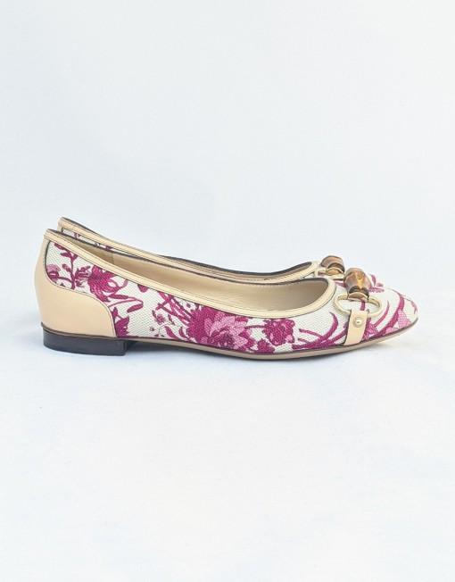 ballerines GUCCI flora pink