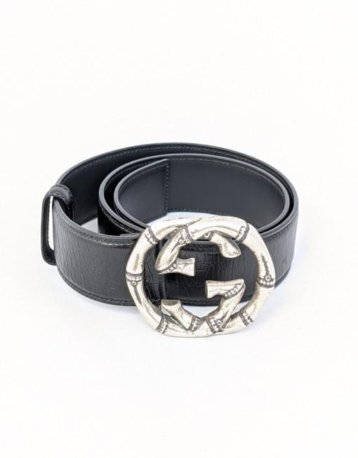 belt GUCCI bambu silver