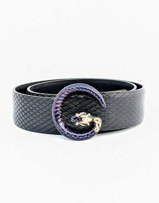 belt GUCCI python black