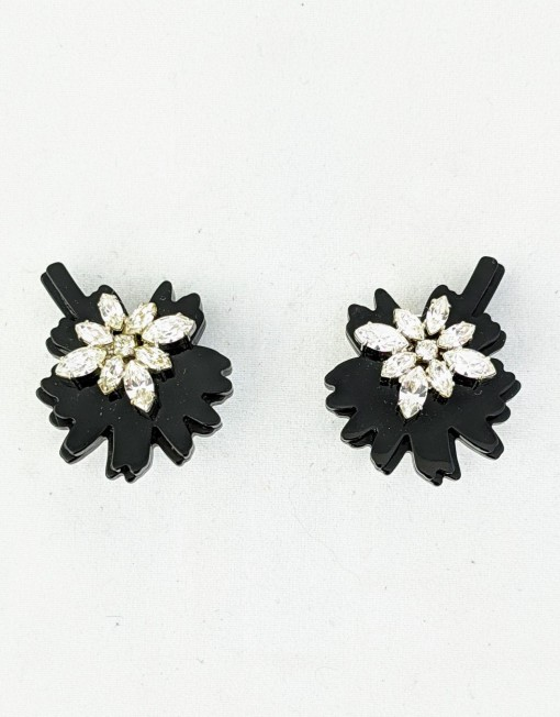 earrings PRADA flower black