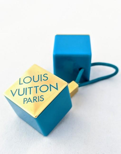 hair accessory VUITTON cube blue