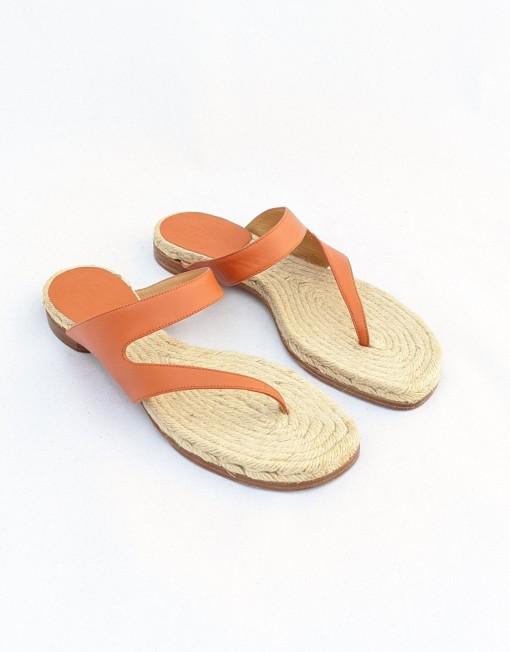 sandals HERMES tong camel