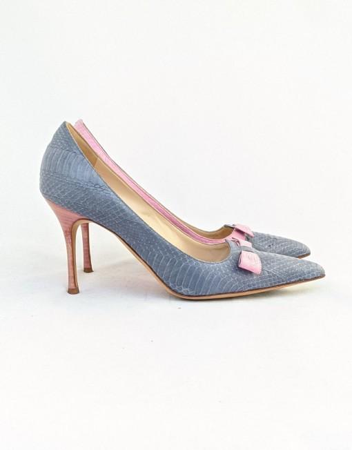 shoes BLANHIK blu pink python