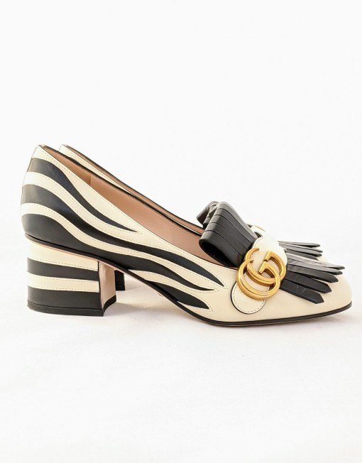 shoes GUCCI marmont zebra