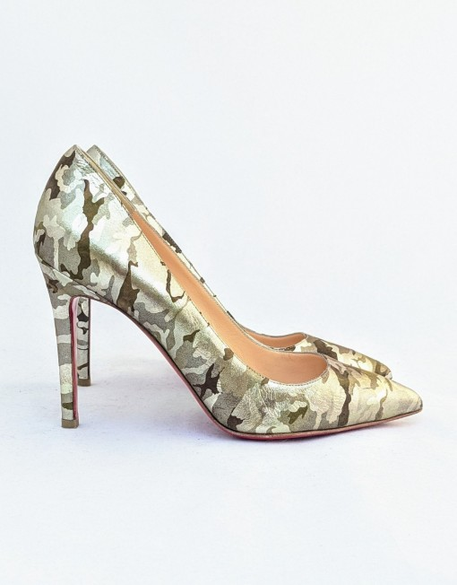 shoes LOUBOUTIN camuflage gold
