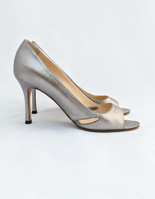 shoes MANOLO BLANHIK silver