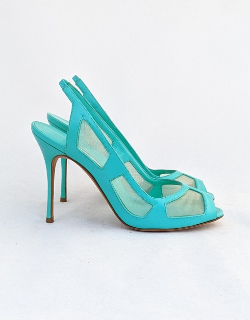 shoes MANOLO BLANHIK turquoise