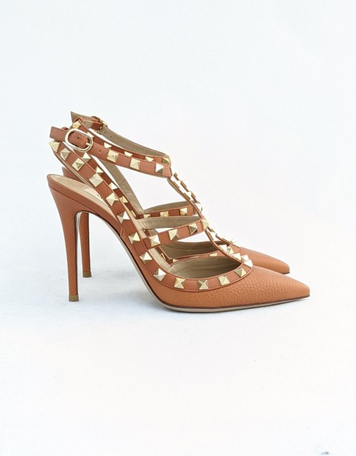 shoes VALENTINO rockstud camel