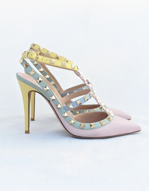 shoes VALENTINO rockstud pastel colors