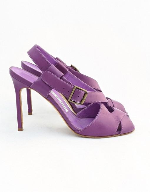 shoes manolo blanhik purple