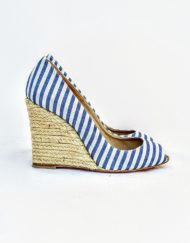 spadrilles LOUBOUTIN blue stripes