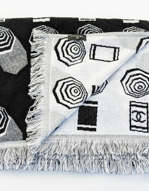 towel CHANEL black