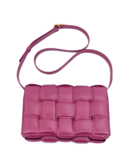BOTTEGA VENETA Padded Cassette raspberry bag