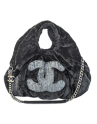 CHANEL Gray silver Rabbit Shoulder bag