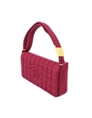 CHANEL chocolat knitted bag