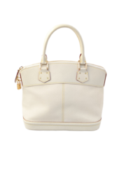 VUITTON Lockit white bag
