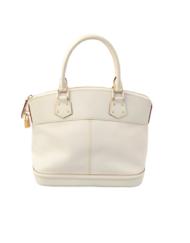 VUITTON Lockit white bag
