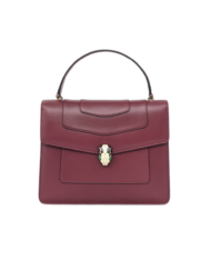 BVLGARI Serpenti forever burgundy leather bag