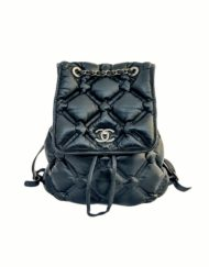 CHANEL Bubble black leather backpack