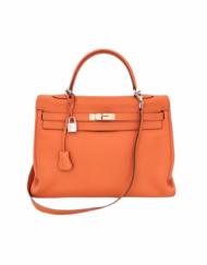 HERMES Kelly 35 orange bag