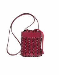 PACO RABANNE Bouquet dark red bag
