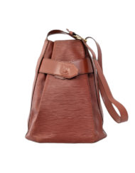 VUITTON d'Epaule Epi leather camel bag